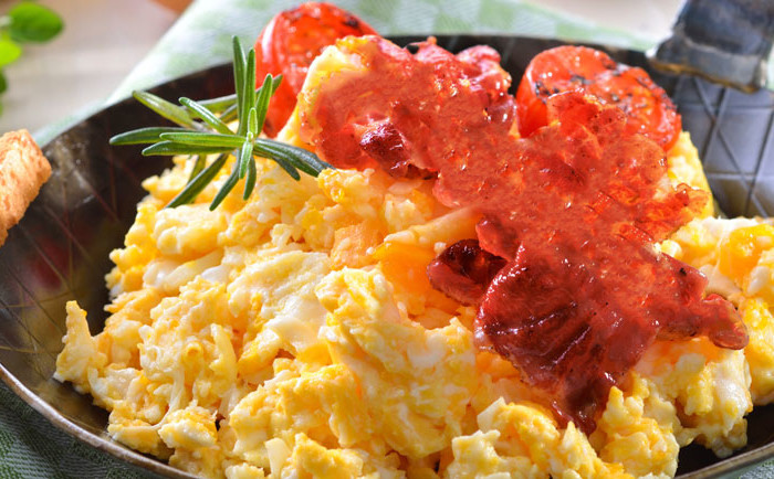 Carne Cecina Huevos